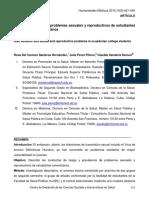 Conductas de Riesgo y Problemas en SSR en Ecuatorianos
