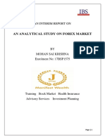 An Interim Report on Analytical Study on Forex Market