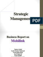 Strategic Management Mobilink