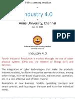 IITM Presentation on I 4.0 - Anna University - 21-12-2016