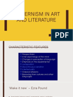 Modernism in Art and Literature