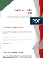 Interpretação de Textos - OAB (Piloto)