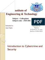 INTRODUCTION TO CYBERCRIME AND SECURITY