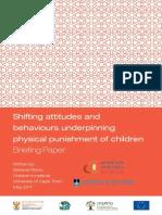 Shifting Attitudes and Behaviors Underpinning Physical Punishment of Children (2017)