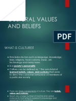 Culture and Social Beliefs