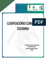 Clasificaciones Clima