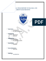 Geological Field Report of Hazara & Abbottabad by Sohail Ahmed and Gul Dar Ali Eddited