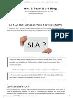 Le SLA Chez Amazon Web Services