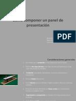 Como componer un panel de presentacion