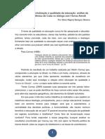 Autoritarismo, Centralização e Qualidade Da Educação_ Análise Da Vantagem Acadêmica de Cuba No Diálogo Com Hanna Arendt