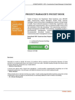 9780415732390 Construction Project Manager x27 s Pocket Book