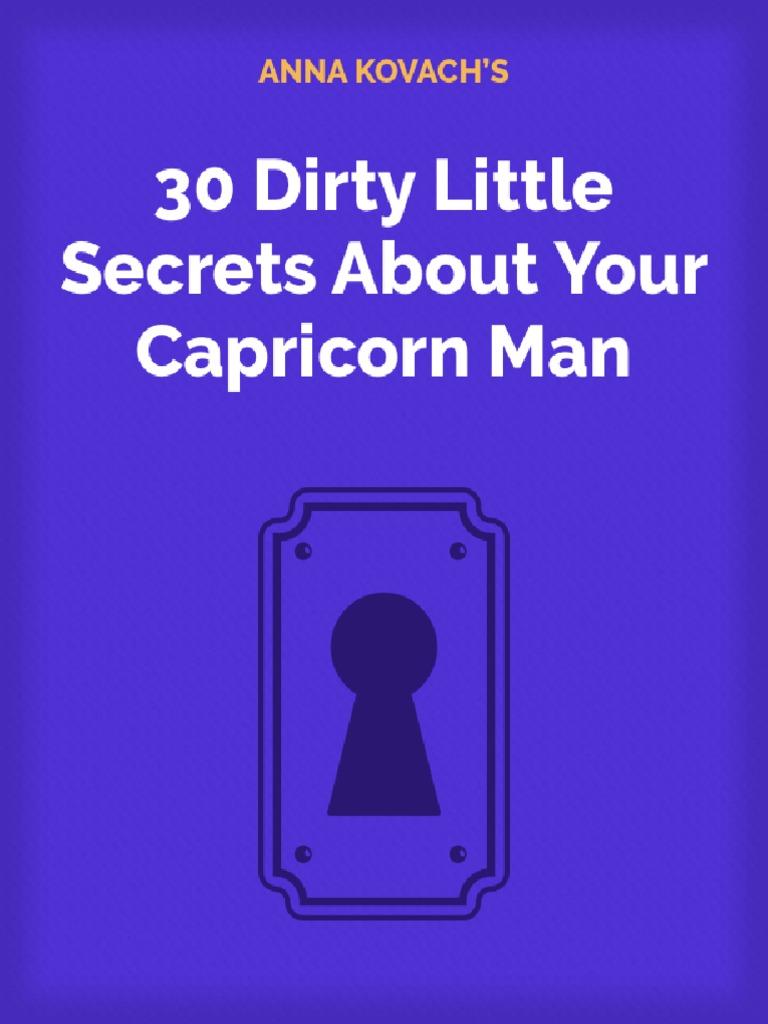 Cheats man when capricorn a Secret Signs