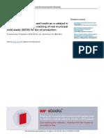 Karakterisasi Zeolit Alam Gunung Kidul (Adsorben, Asam (HCl))