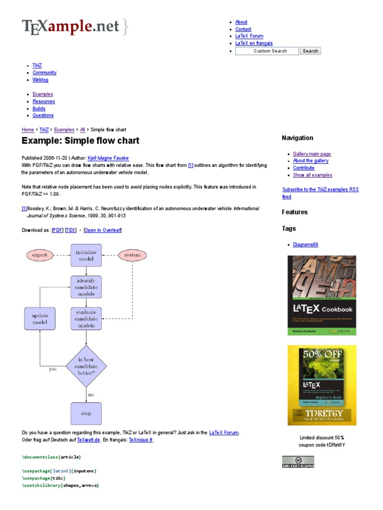 Simple Flow Chart _ TikZ Example   Areas Of Computer Science