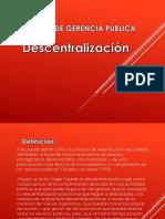 Descentralizacion Presentacion
