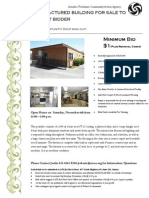 Manufactured Building For Sale!