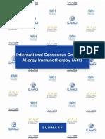 International Consensus of Allergen Immunotherapy EAACI