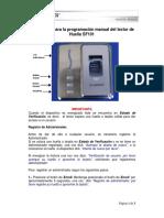 SF101 Programacion Manual