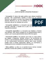 Glosario Clase 28 Anti Corrupci n Y Derechos Humanos I