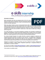 Internship One Pager - Students