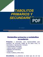 METABOLITOS PRIMARIOS Y SECUNDARIOS - CLASE 3.pptx