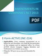 Companies Act Recent Amendments