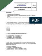 EVALUACIÓN DIAGNOSTICA DE MATEMÁTICA 4 basico simce 2019.docx