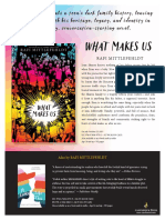 What Makes Us by Rafi Mittlefehldt  Authors Note