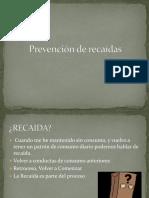 Prevención de Recaídas (Jovenes) Familia
