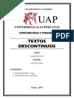 Textos discontinuos - Monografia