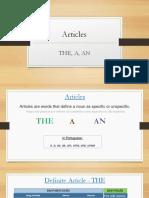 Aula 2 - Artigos, Verbo to Be, Cumprimentos e Apresentações