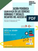 Cartel Curso de Verano- Publicaciones Científicas Periódicas