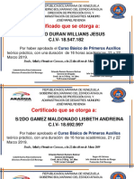 Certificados Primeros Aux Ccs
