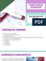 Seminario I - Cuadro Hematico Automatizado - Hematologia I