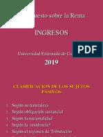 Material Renta Uexternado - Ingresos 2019