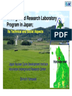 AspectsUnderground Research Laboratory