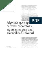 Alonso (2007) Algo Más Que Suprimir Barreras, Conceptos y Argumentos Para Una Accesibilidad Universal