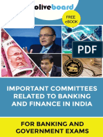 Important Committees Related to Banking and Finance