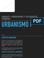 Urbanismo I CLASE
