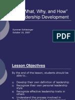 Leadership development presentation