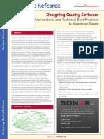 Architecture and Design Best Practice Refcardz 2791 Rc130 010d Designing Quality_0