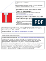 Human Resources Management in Latin America the Case of Chile - Perez Arrau Et Al 2012
