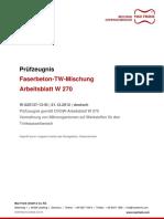 Faserbeton Pruefbericht Gemaess DVGW W270 PZ DEDE