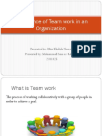 Importance of Team Work in an Organization Ppt