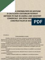 ORGANIZAREA CONTABILITATII DE GESTIUNE .ppt