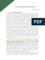 Lineamientos Cooperación Japonesa Perú