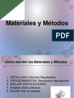 Materiales y Métodos de una publicación científica