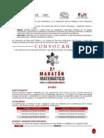 convocatoria maratón matemático