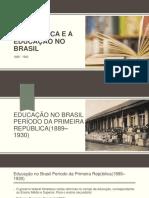 apresentação da educação na República Brasileira