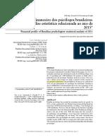 Anunciação -- Perfil financeiro de psicólogos brasileiros em 2015
